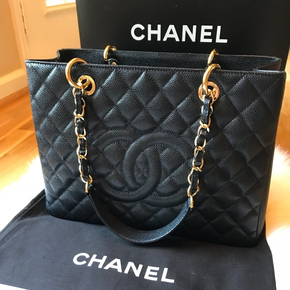 f2980d97d45f CHANEL Handbags - Authentic Chanel Grand Shopping Tote Full Set